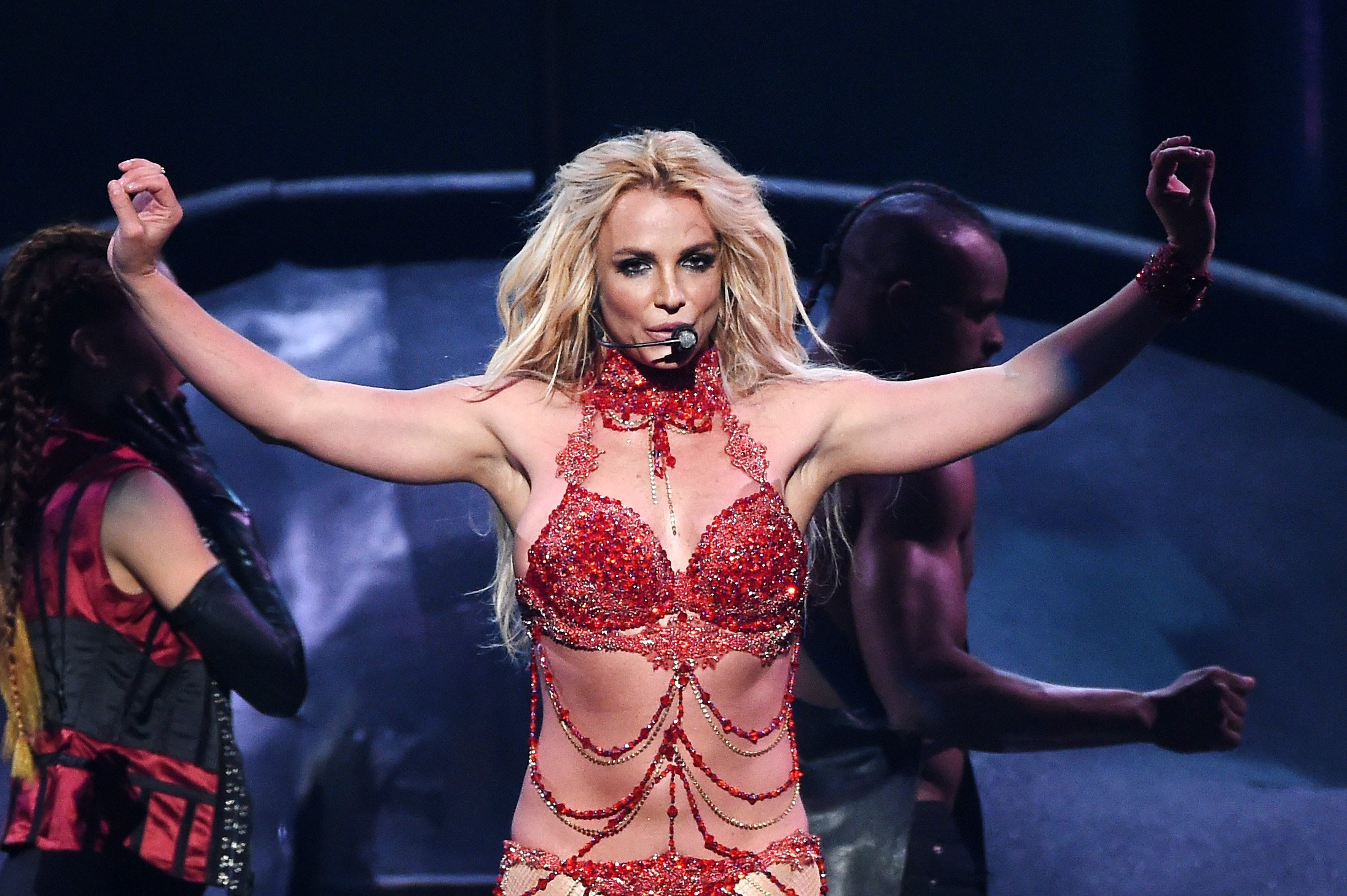 Britney Spears performs onstage during the 2016 Billboard Music Awards at T-Mobile Arena on May 22, 2016 in Las Vegas,