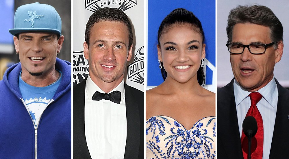 Vanilla Ice, Ryan Lochte, Laurie Hernandez and Rick Perry