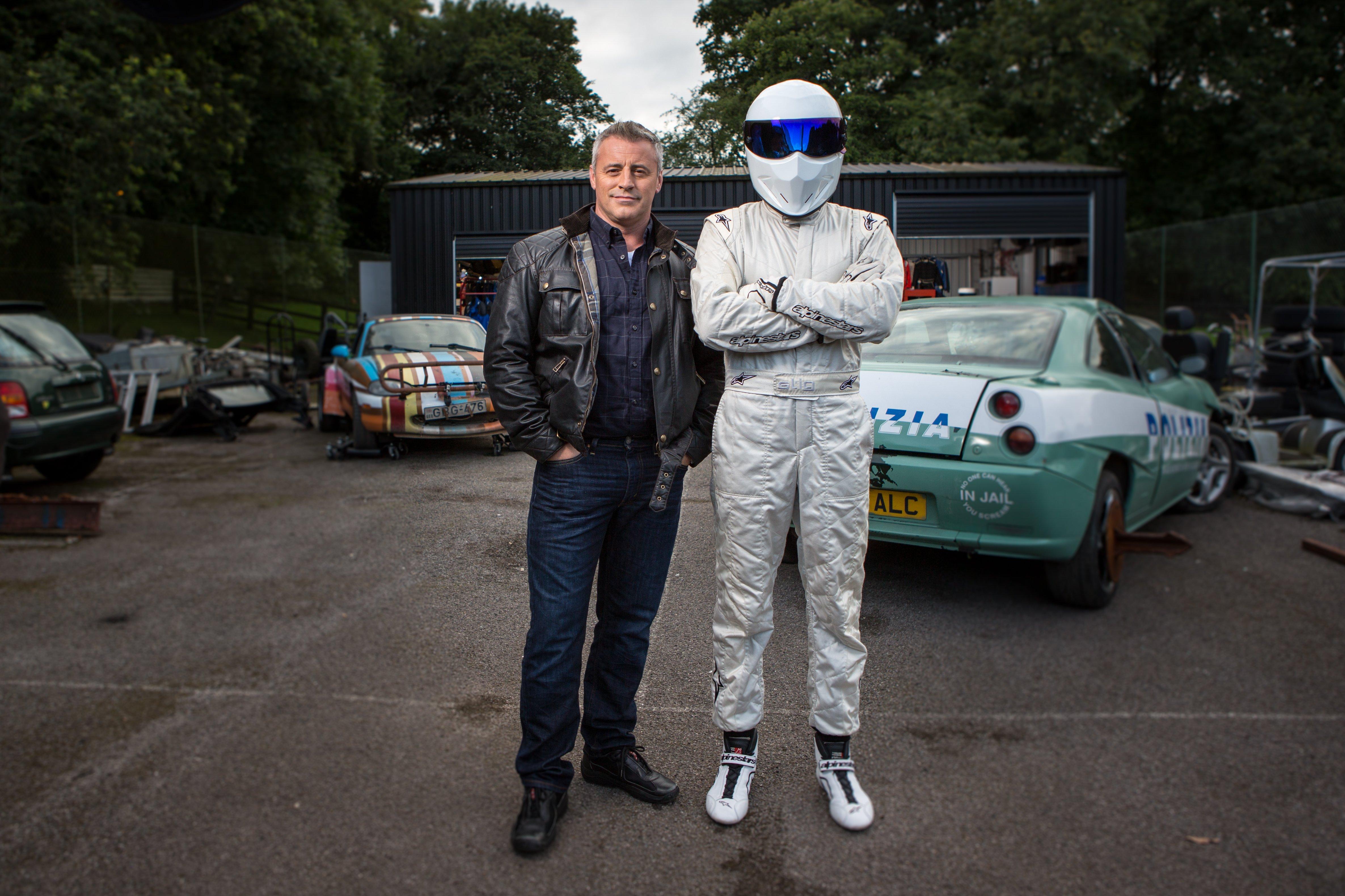 Matt LeBlanc and The Stig of BBC America's 'Top Gear'