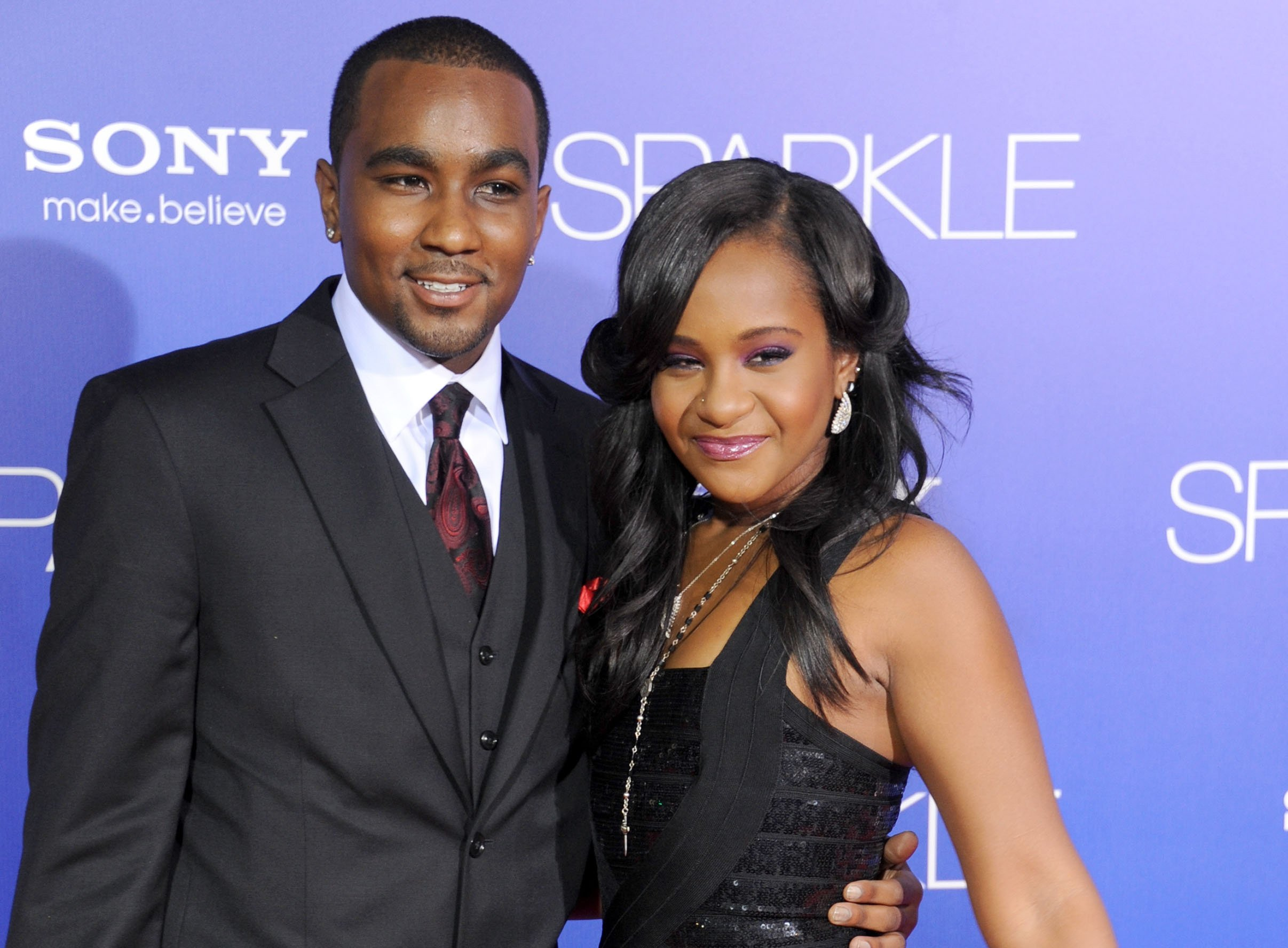 Bobbi Kristina Brown and Nick Gordon arrive at the Los Angeles premiere of 'Sparkle' at Grauman's Chinese Theatre on August 16, 2012 in Hollywood
