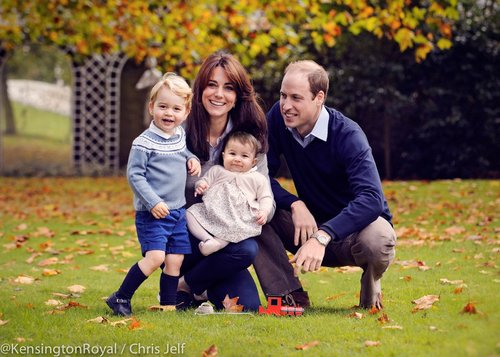 Merry Christmas from The Duke and Duchess of Cambridge, Prince George and Princess Charlotte!