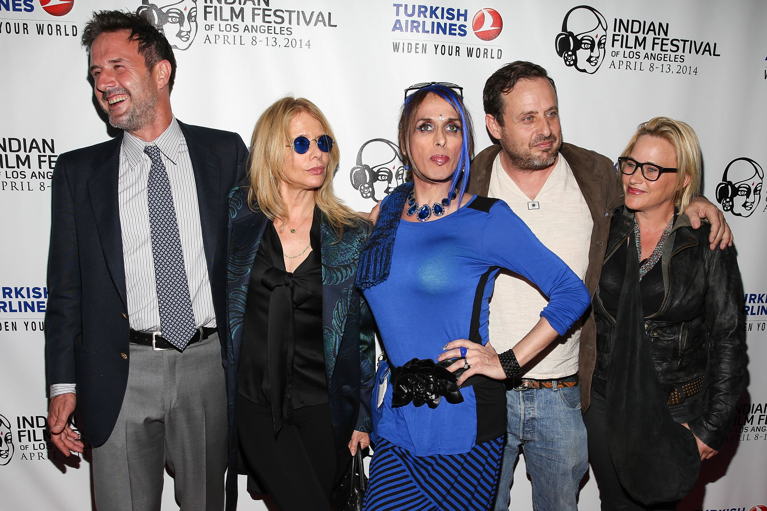 David Arquette, Rosanna Arquette, Alexis Arquette, Richmond Arquette, and Patricia Arquette attend the Indian Film Festival Of Los Angeles Opening Night Gala for 'Sold' at ArcLight Cinemas on April 8, 2014 in Hollywood
