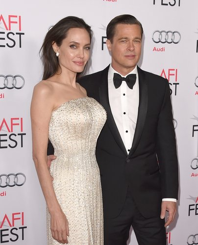 Angelina Jolie Pitt and Brad Pitt attend the opening night gala premiere of Universal Pictures' 'By the Sea' during AFI FEST 2015 presented by Audi at TCL Chinese 6 Theatres on November 5, 2015 in Hollywood