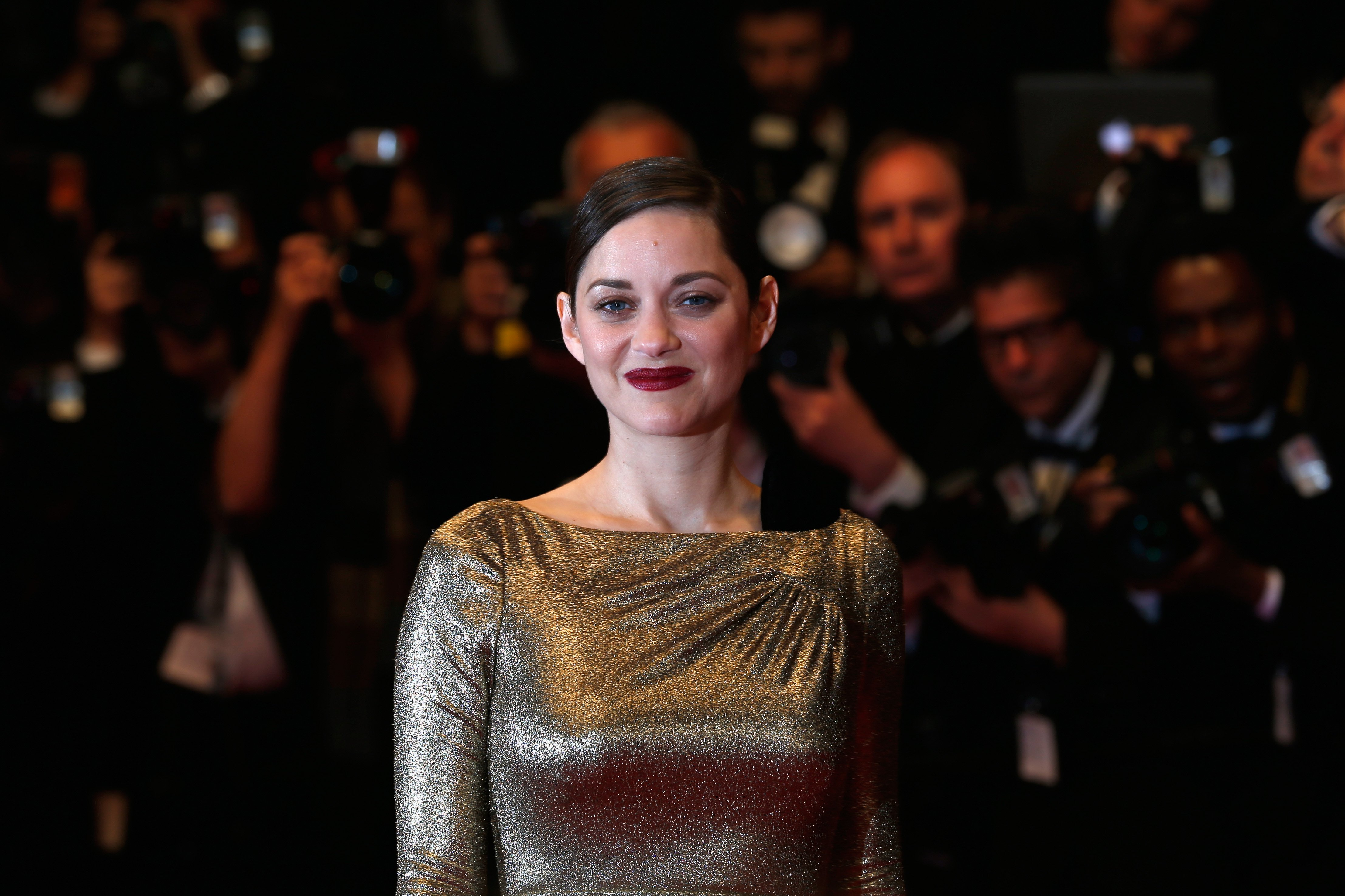 Marion Cotillard leaves the 'From The Land Of The Moon' premiere during the 69th annual Cannes Film Festival at the Palais des Festivals on May 15, 2016