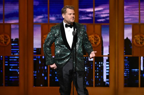 Host James Corden speaks onstage during the 70th Annual Tony Awards at The Beacon Theatre on June 12, 2016 in New York City