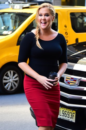Amy Schumer is seen walking in Midtown on August 23, 2016 in New York City