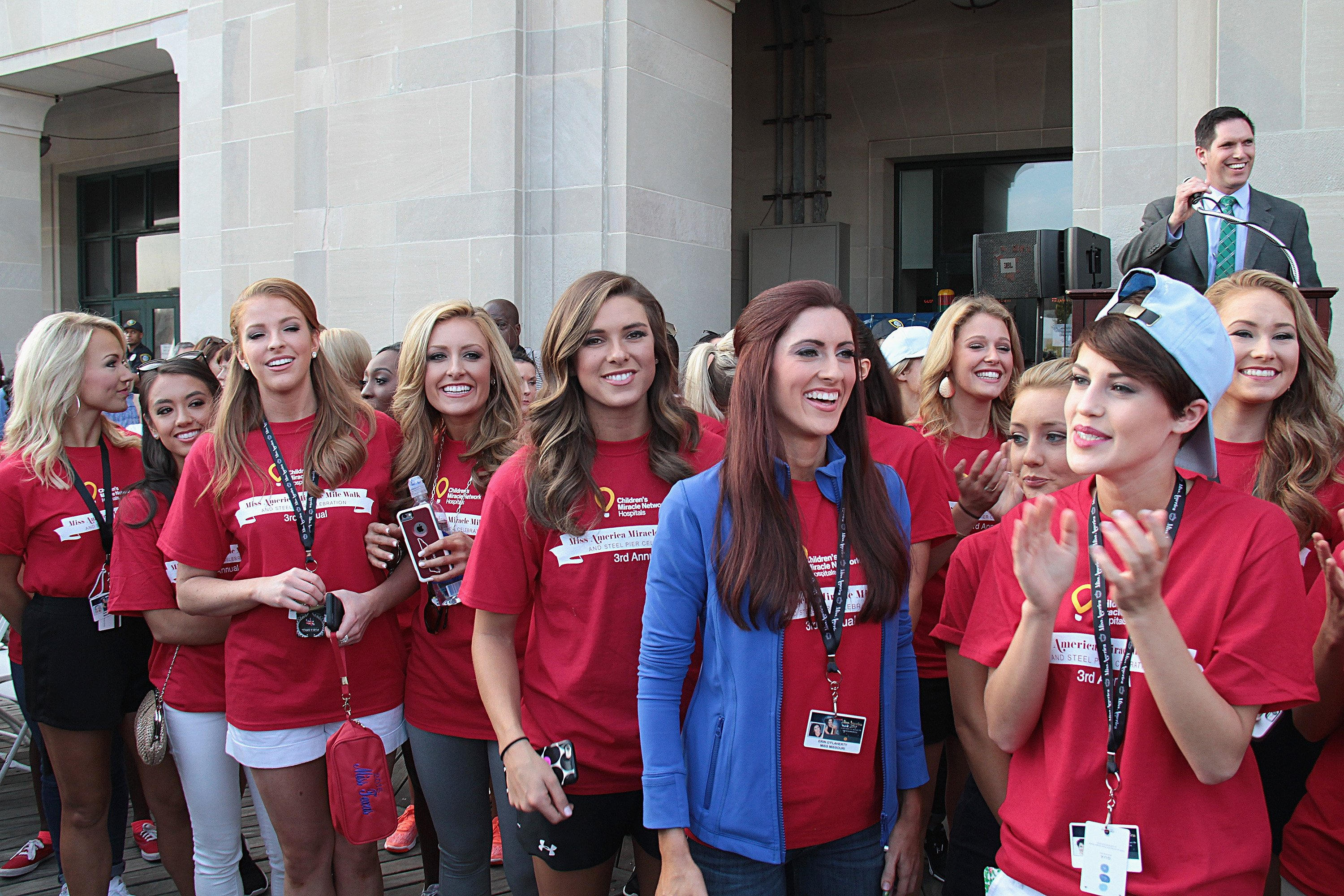 Miss America 2017 contestants attend Miss America 2017 ' Miracle Mile Walk' on September 9, 2016 in Atlantic City, New Jersey