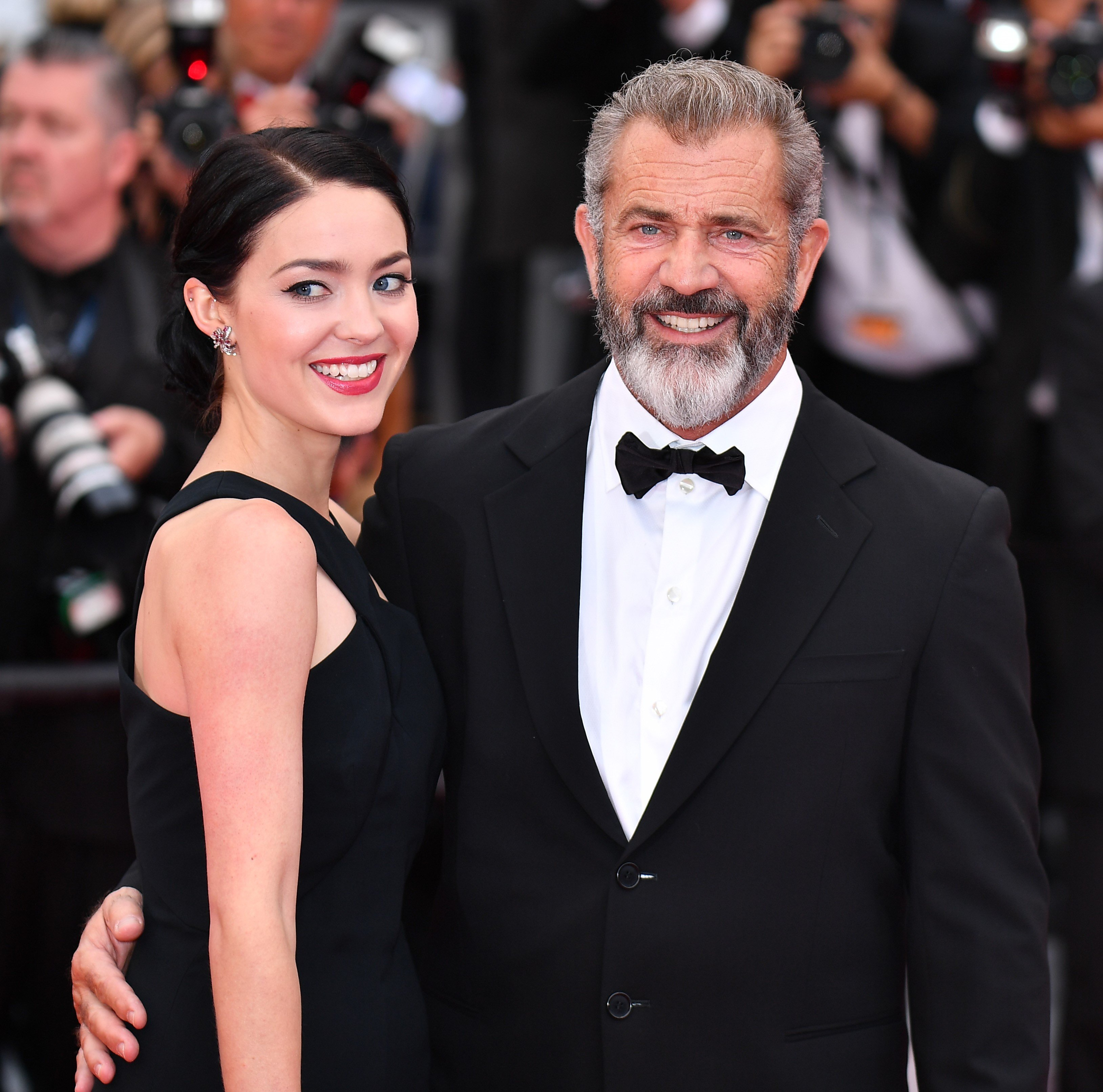 Mel Gibson and Rosalind Ross at Cannes May 22, 2016