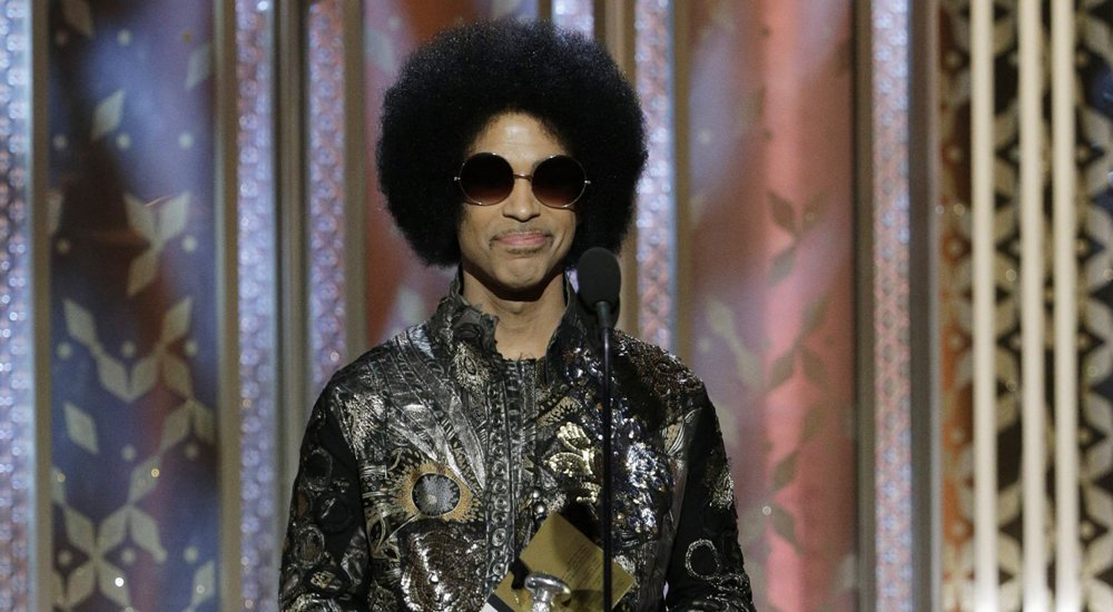 Prince speaks onstage during the 72nd Annual Golden Globe Awards at The Beverly Hilton Hotel on January 11, 2015 in Beverly Hills
