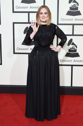 Singer Adele attends The 58th GRAMMY Awards