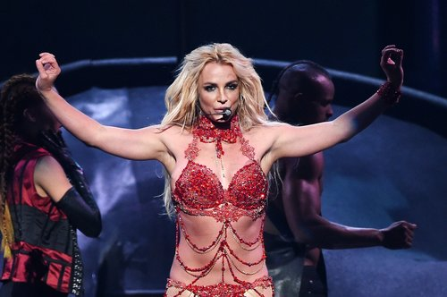 Britney Spears performs onstage during the 2016 Billboards
