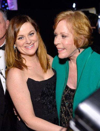Amy Poehler and Carol Burnett attend The 22nd Annual Screen Actors Guild Awards at The Shrine Auditorium on January 30, 2016 in Los Angeles