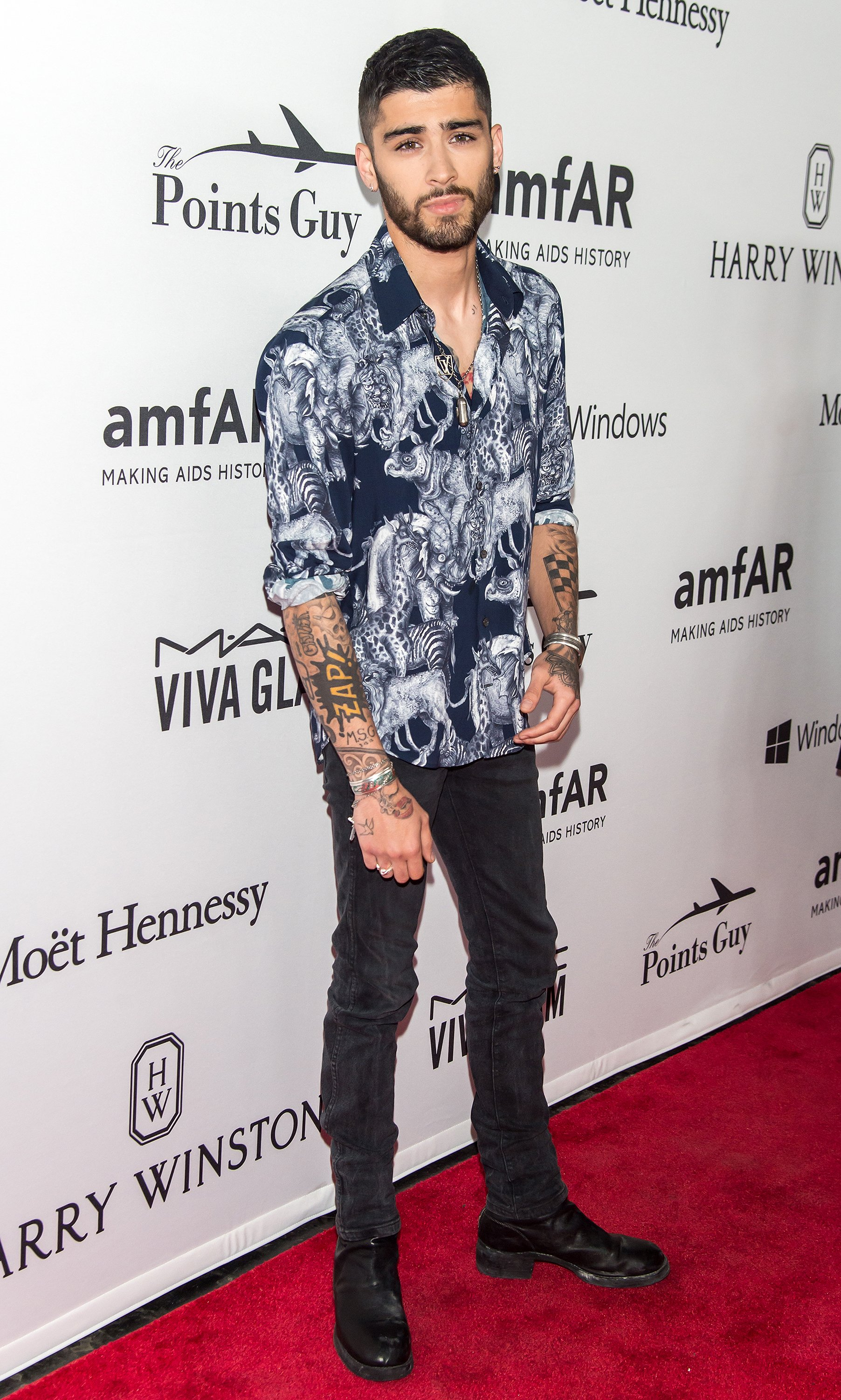 Zayn Malik attends 7th Annual amfAR Inspiration Gala New York at Skylight at Moynihan Station on June 9, 2016 in New York City.