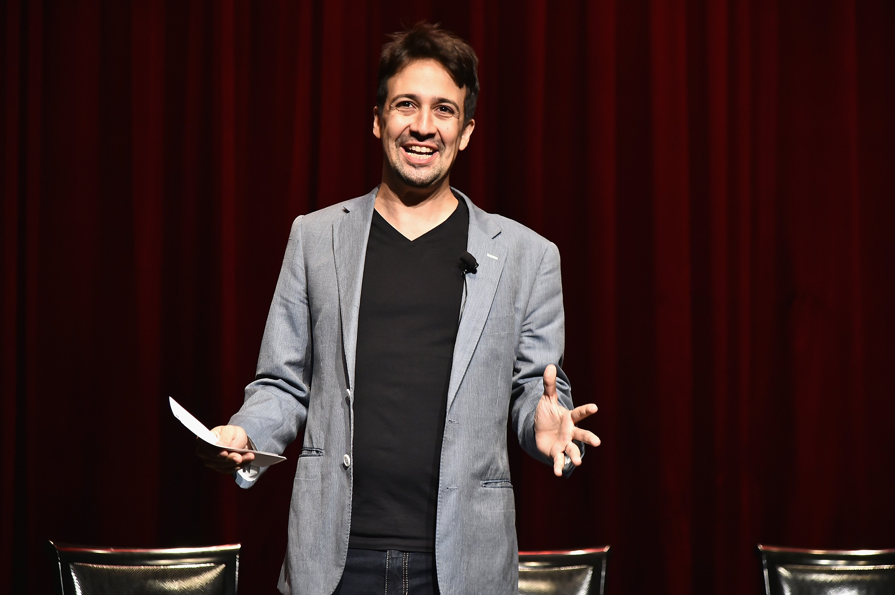 Lin-Manuel Miranda attends the 'Grease: Live' Panel & Reception at The Edison Ballroom on August 15, 2016 in New York City