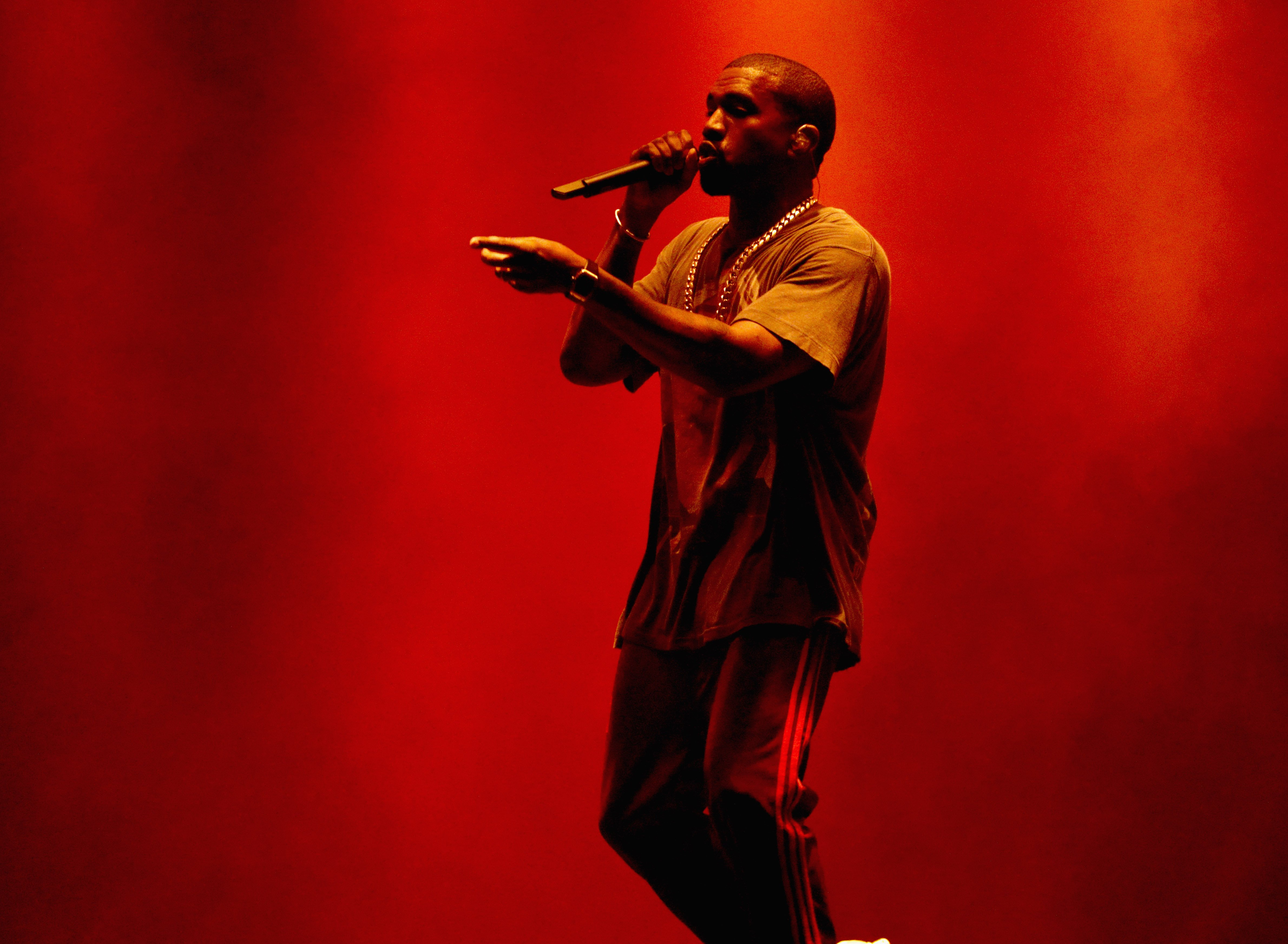 Kanye West performs onstage during The Meadows Music & Arts Festival Day 2 on October 2, 2016 in Queens, New York