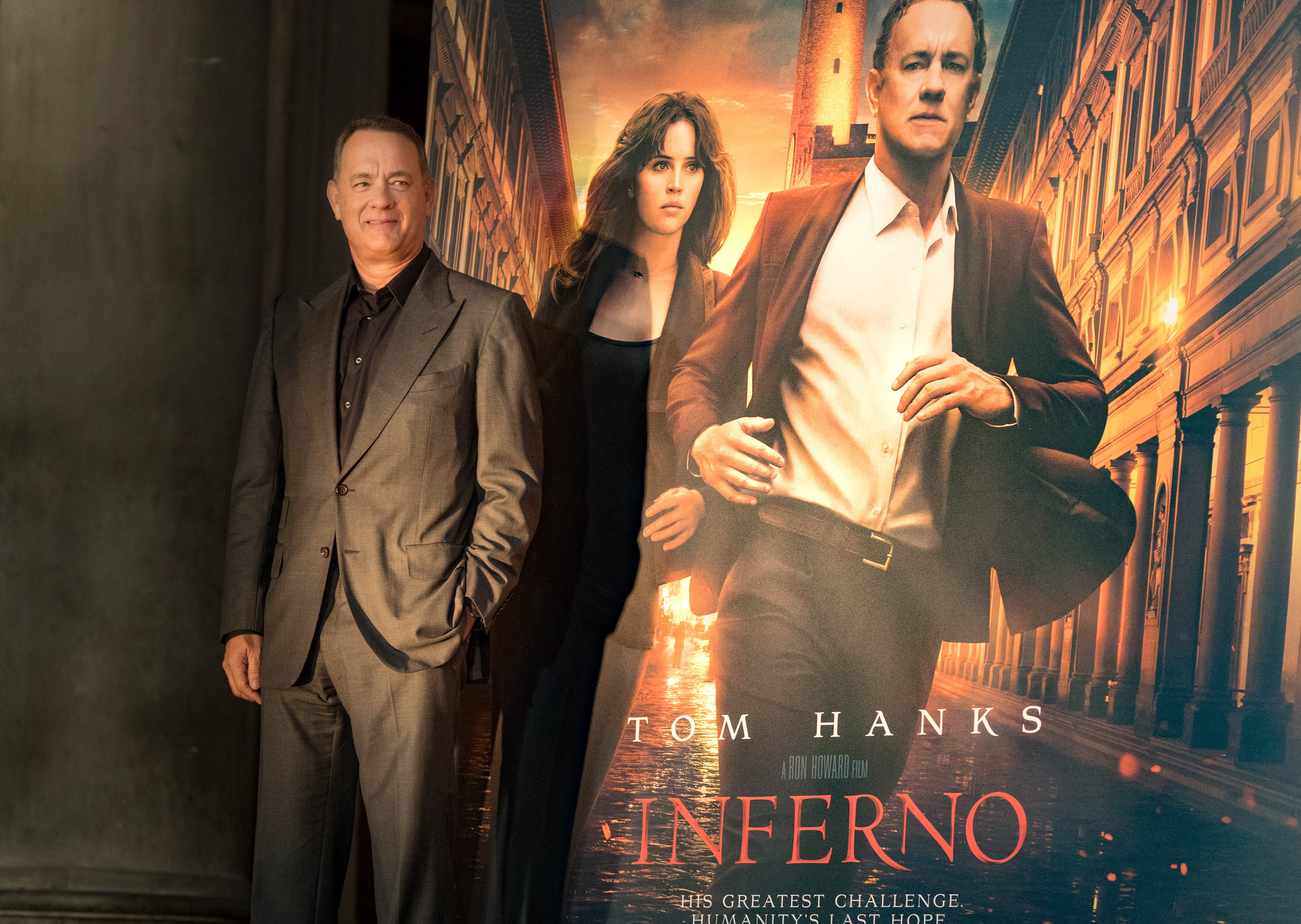 Tom Hanks attends the INFERNO Photo Call & Press Conference at The Hall of the Five Hundred on October 6, 2016 in Florence