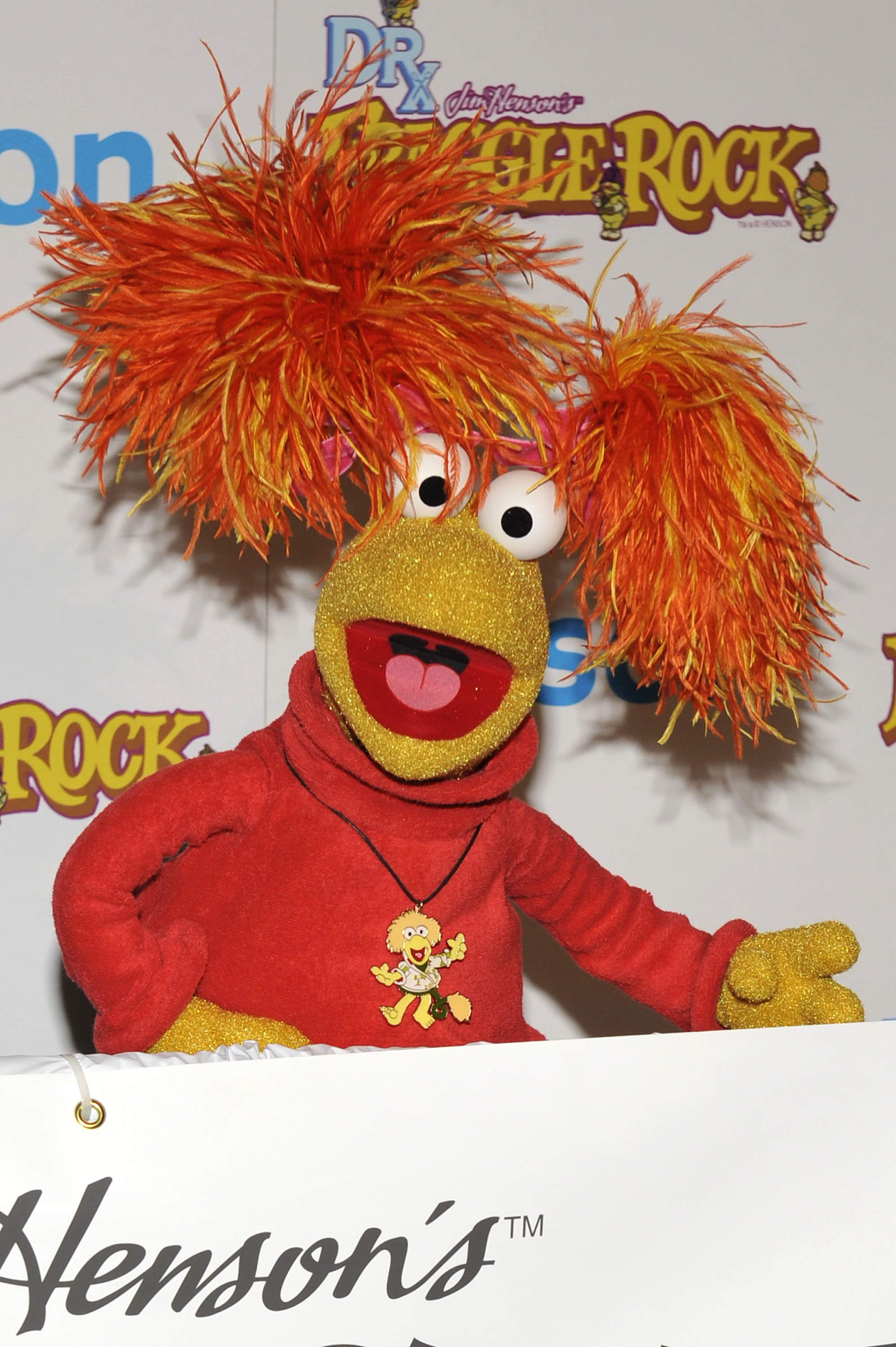 Red Fraggle poses for a picture at the Fraggle Rock event held at Kitson on December 9, 2009 in West Hollywood