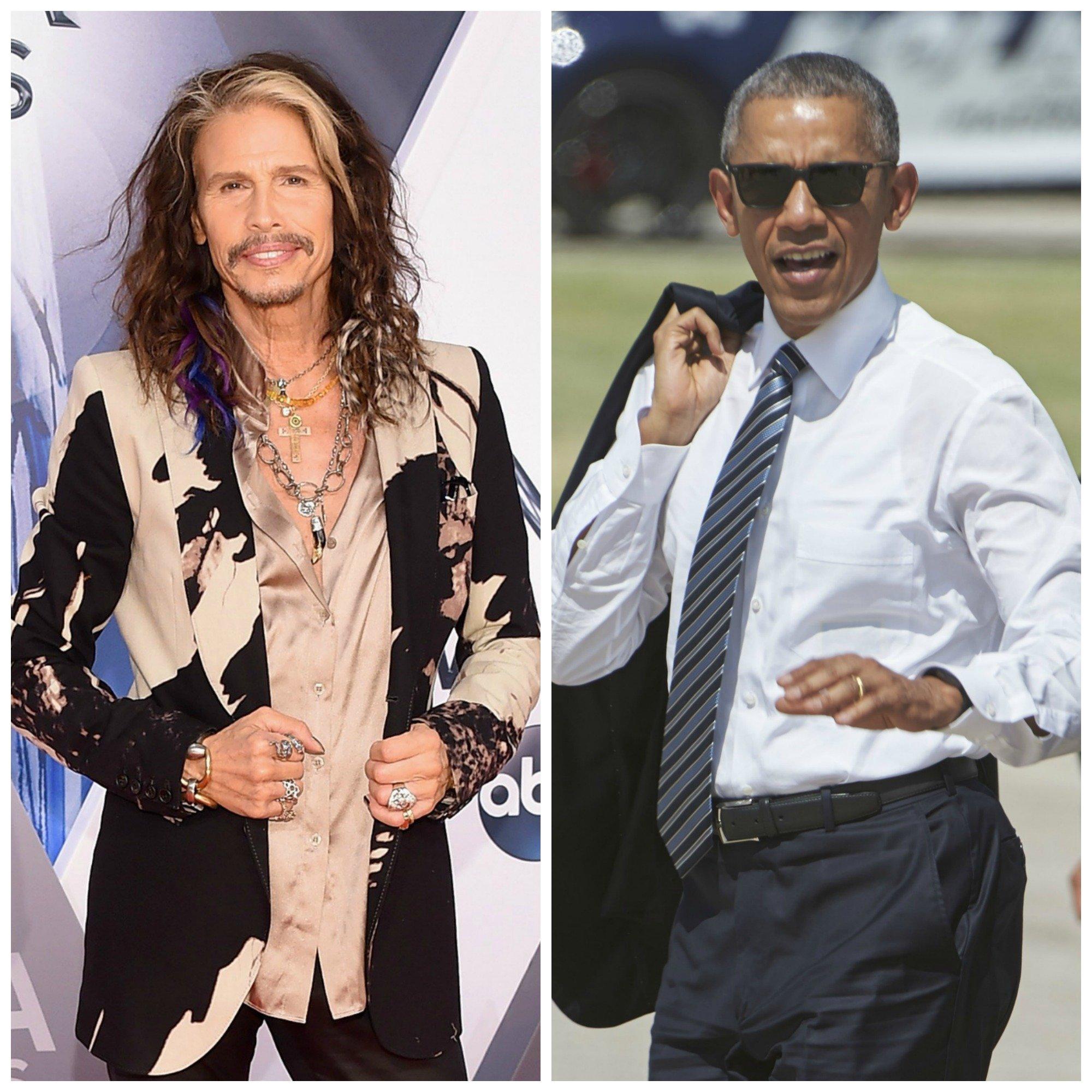 Steven Tyler and President Obama