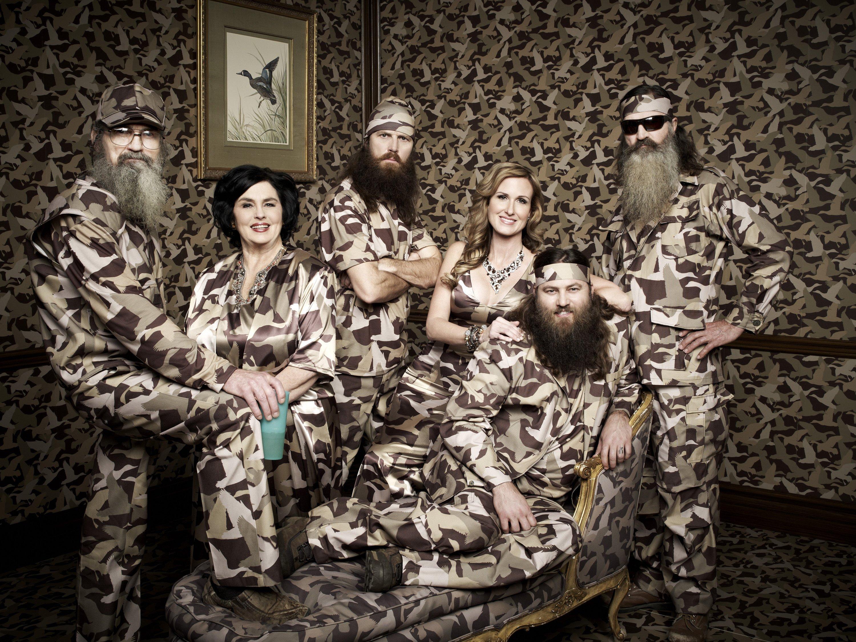 Si Robertson, Ms. Kay Robertson, Jase Robertson, Korie Robertson, Willie Robertson, Phil Robertson of 'Duck Dynasty'