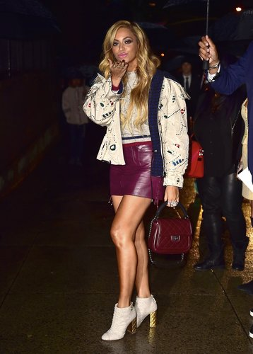 Beyonce is seen on March 31, 2015 in New York City