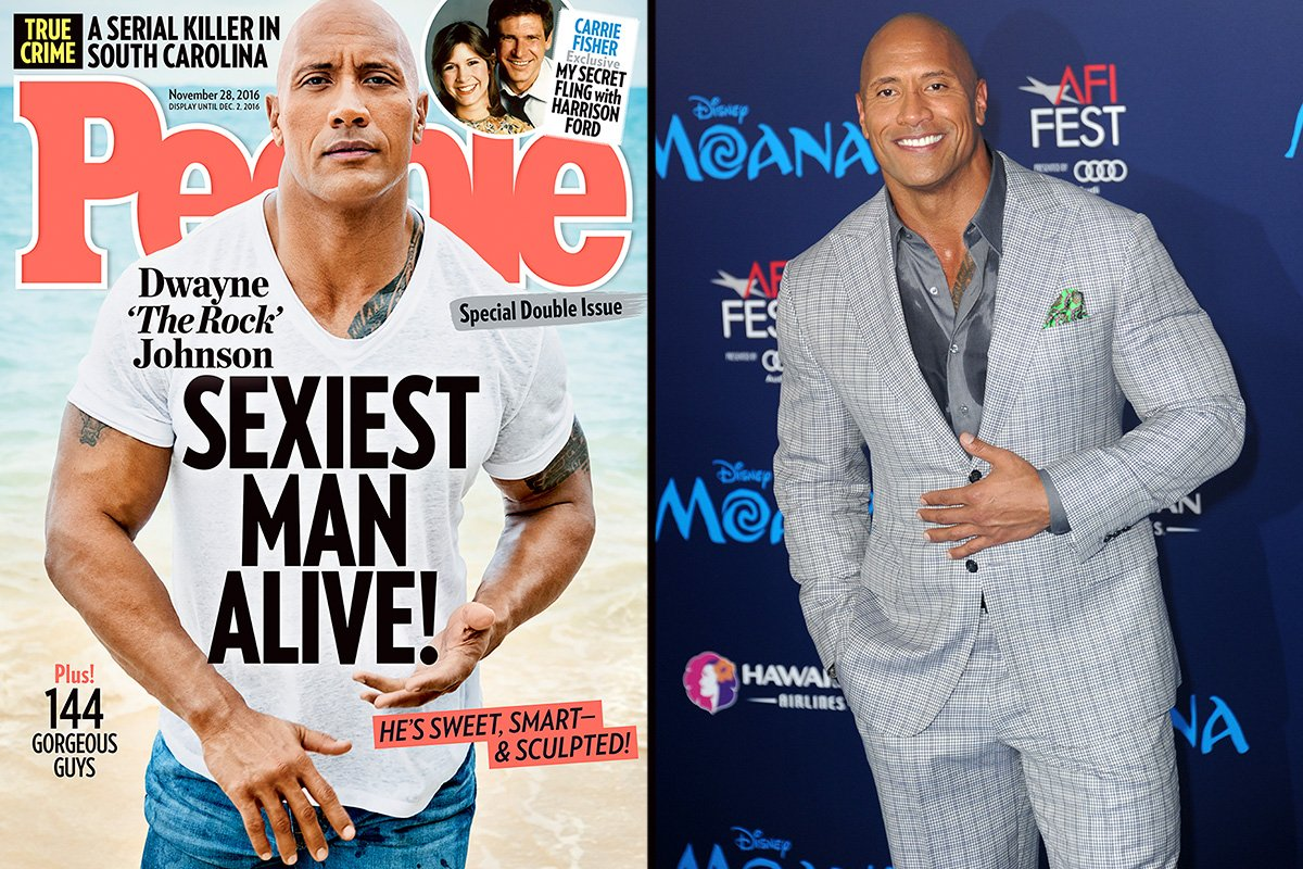 Dwayne 'The Rock' Johnson is named People magazine's 'Sexiest Man Alive,' November 2016