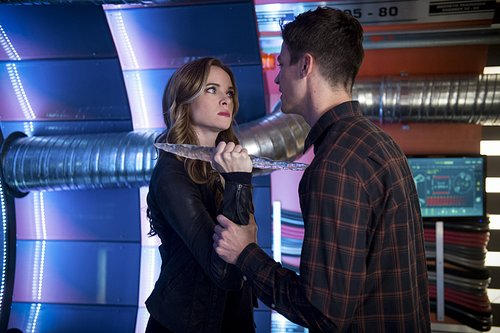 Danielle Panabaker as Caitlin Snow and Grant Gustin as Barry Allen in 'The Flash' Season 3, Episode 7 -- 'Killer Frost'