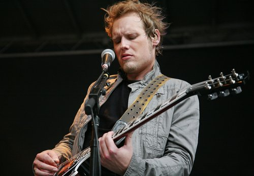 Matt Roberts of 3 Doors Down performs on 'FOX and Friends' outside of FOX Studios on July 29, 2011 in New York City