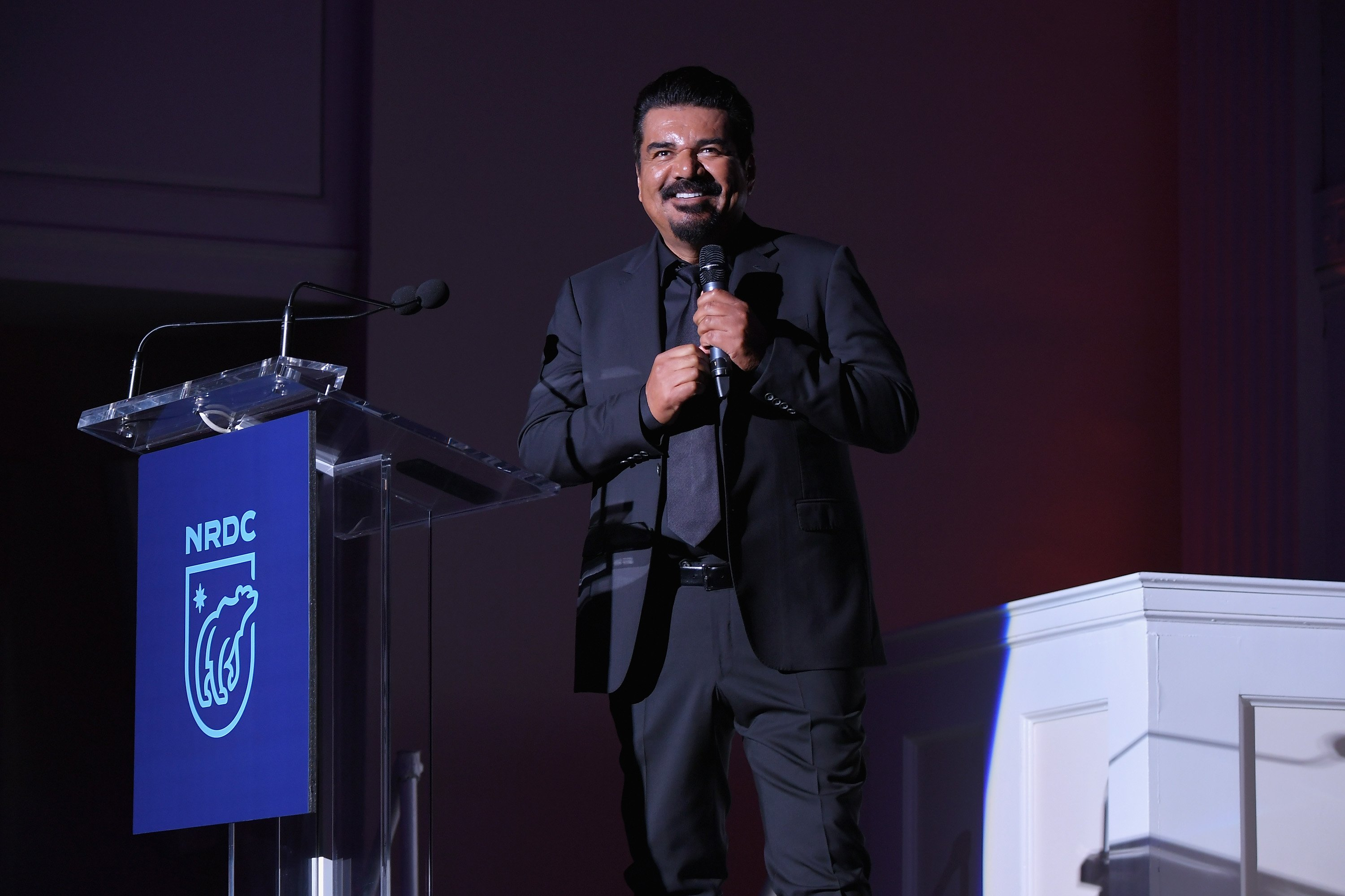 George Lopez performs onstage during the Natural Resources Defense Council's 'NRDC's Night of Comedy' Benefit with Seth Meyers, John Oliver, George Lopez, Mike Birbiglia and Hasan Minhaj on November 9, 2016 in New York Cit
