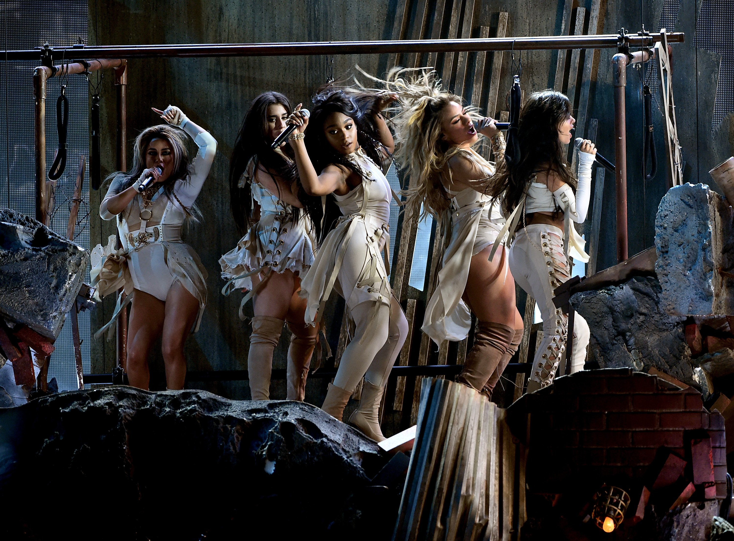 Fifth Harmony performs onstage during the 2016 American Music Awards at Microsoft Theater on November 20, 2016 in Los Angeles,