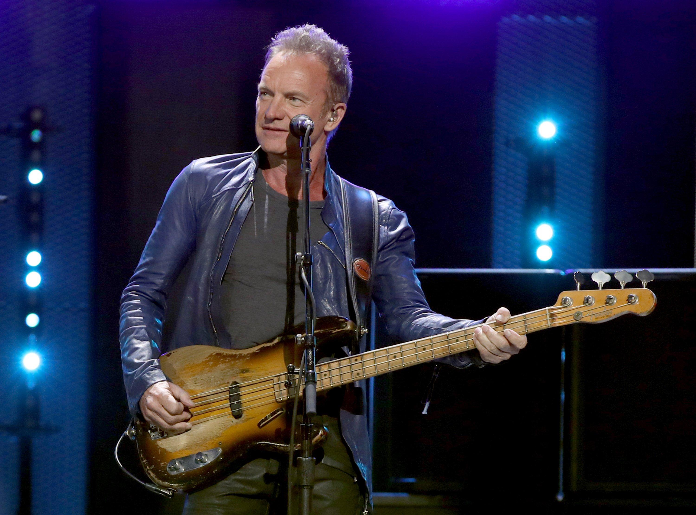 Sting onstage September 24, 2016 in Las Vegas