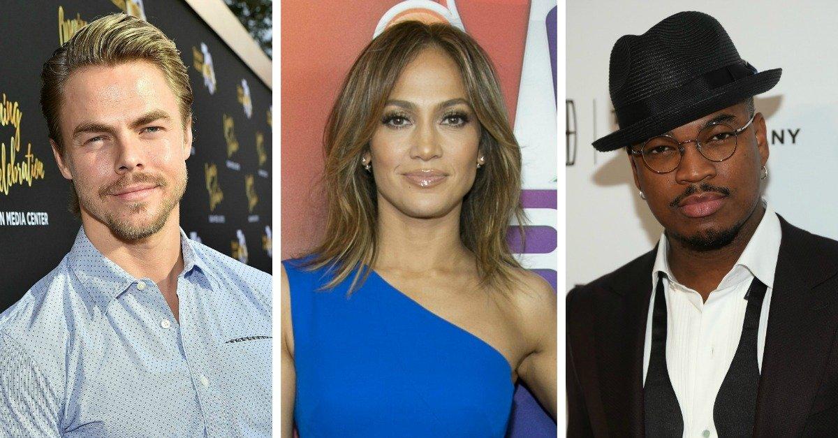 Derek Hough, Jennifer Lopez and Ne-Yo