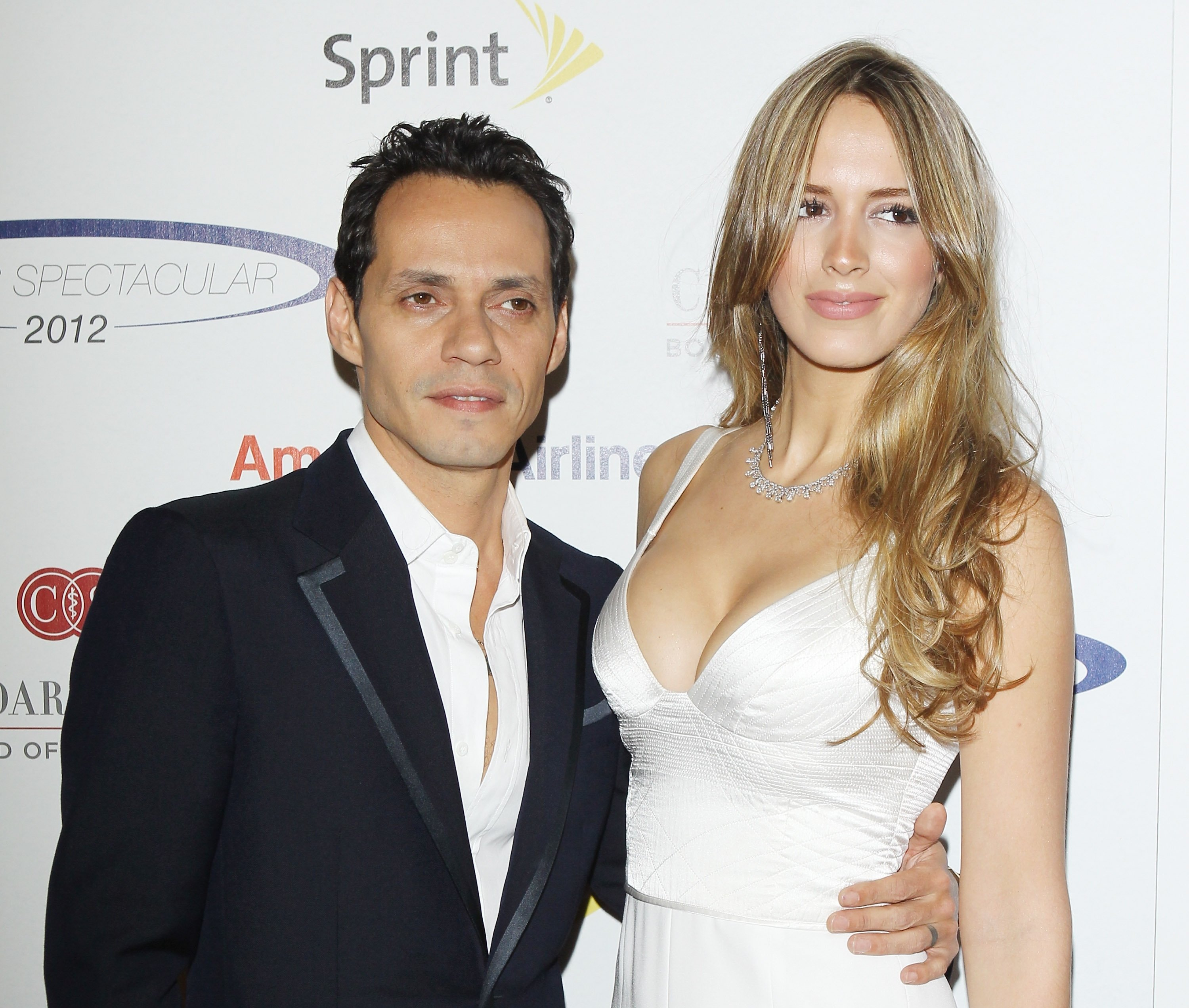 Marc Anthony and Shannon De Lima arrive at 27th Anniversary of Sports Spectacular held at the Hyatt Regency Century Plaza on May 20, 2012 in Century City, Calif.