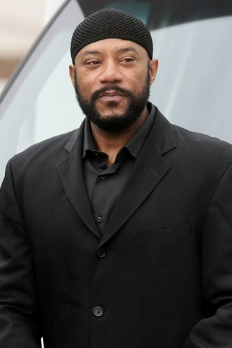 Ricky Harris arrives at Nate Dogg's funeral service on March 26, 2011 in Long Beach