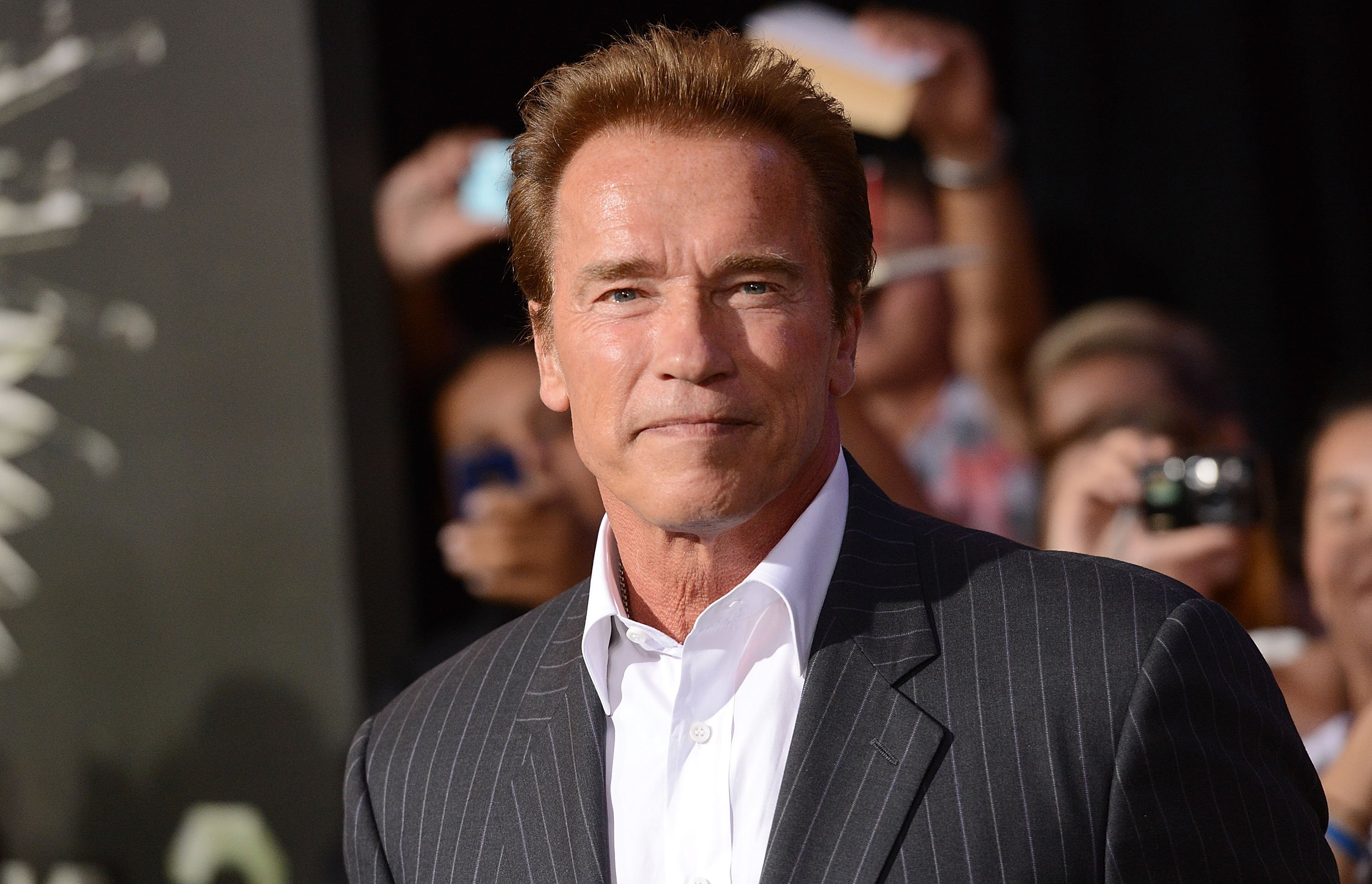Arnold Schwarzenegger arrives at Lionsgate Films' 'The Expendables 2' premiere on August 15, 2012 in Hollywood