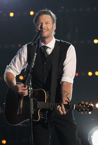 Blake Shelton performs onstage at the 49th annual CMA Awards at the Bridgestone Arena on November 4, 2015 in Nashville