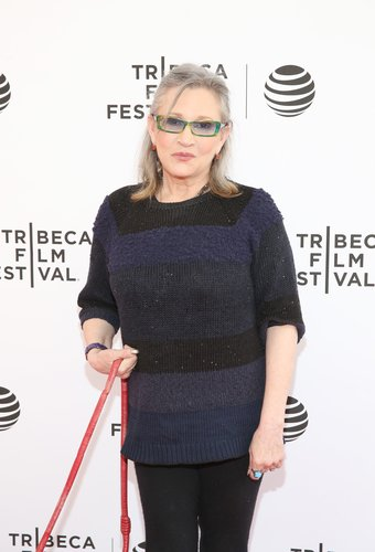 Carrie Fisher attends Tribeca Tune In: Catastrophe at SVA Theatre 2 on April 19, 2016 in New York City