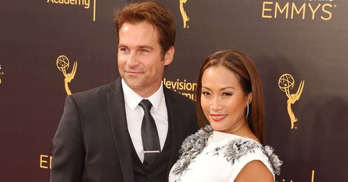 Robb Derringer and Carrie Ann Inaba attend the 2016 Creative Arts Emmy Awards held at Microsoft Theater on September 11, 2016 in Los Angeles