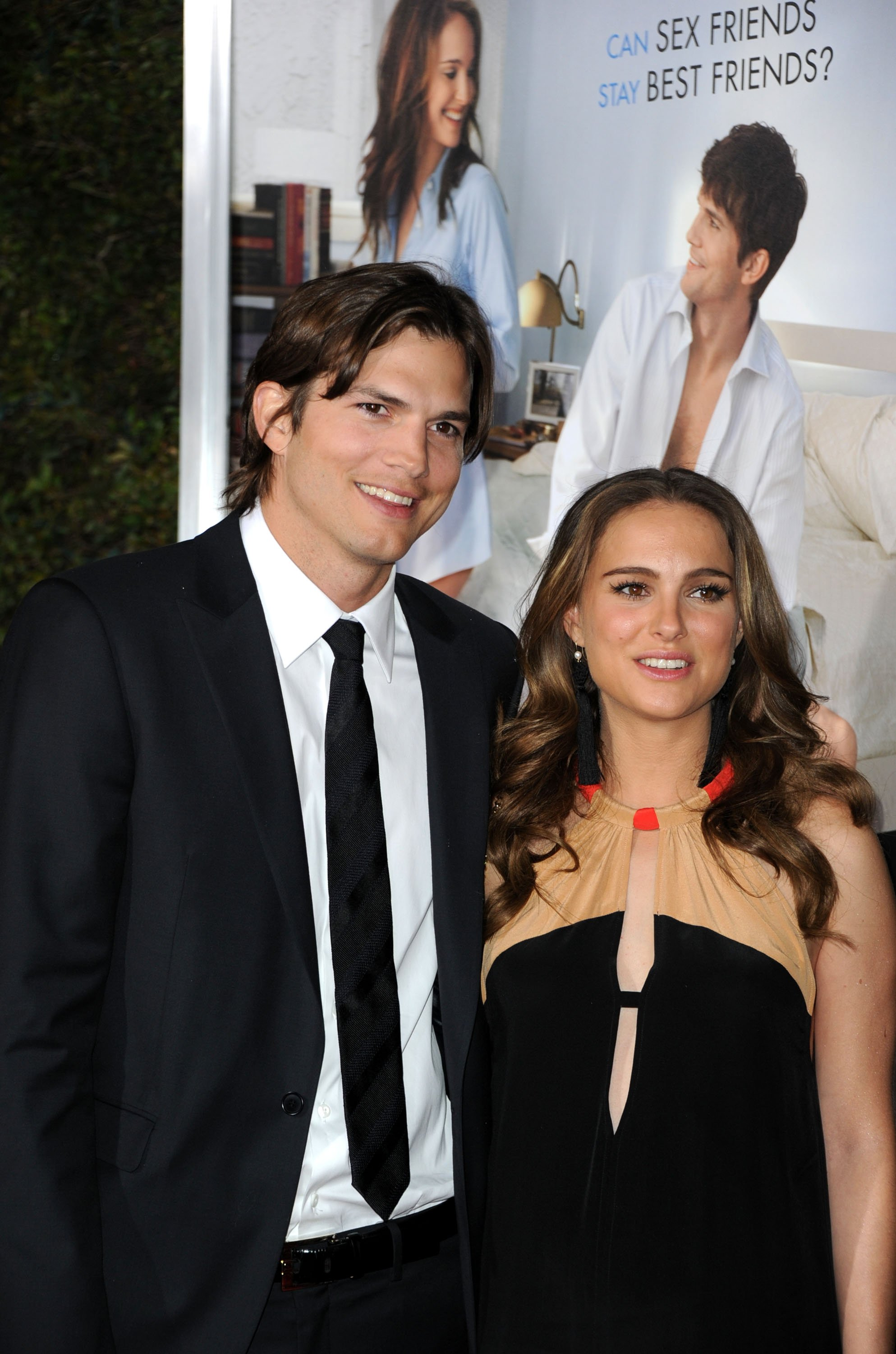 """Ashton Kutcher and Natalie Portman arrive at Paramount Pictures' """"No Strings Attached"""" premiere at Regency Village Theater in LA on January 11, 2011"""