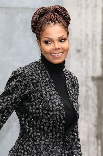 Janet Jackson attends the Giorgio Armani fashion show as part of Milan Fashion Week Womenswear Fall/Winter 2013/14 on February 25, 2014 in Milan, Italy