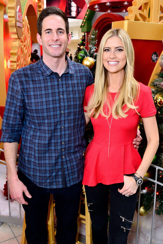 Tarek and Christina El Moussa, hosts of HGTV's hit show 'Flip or Flop', in Lakewood, Calif. on Dec. 13, 2014