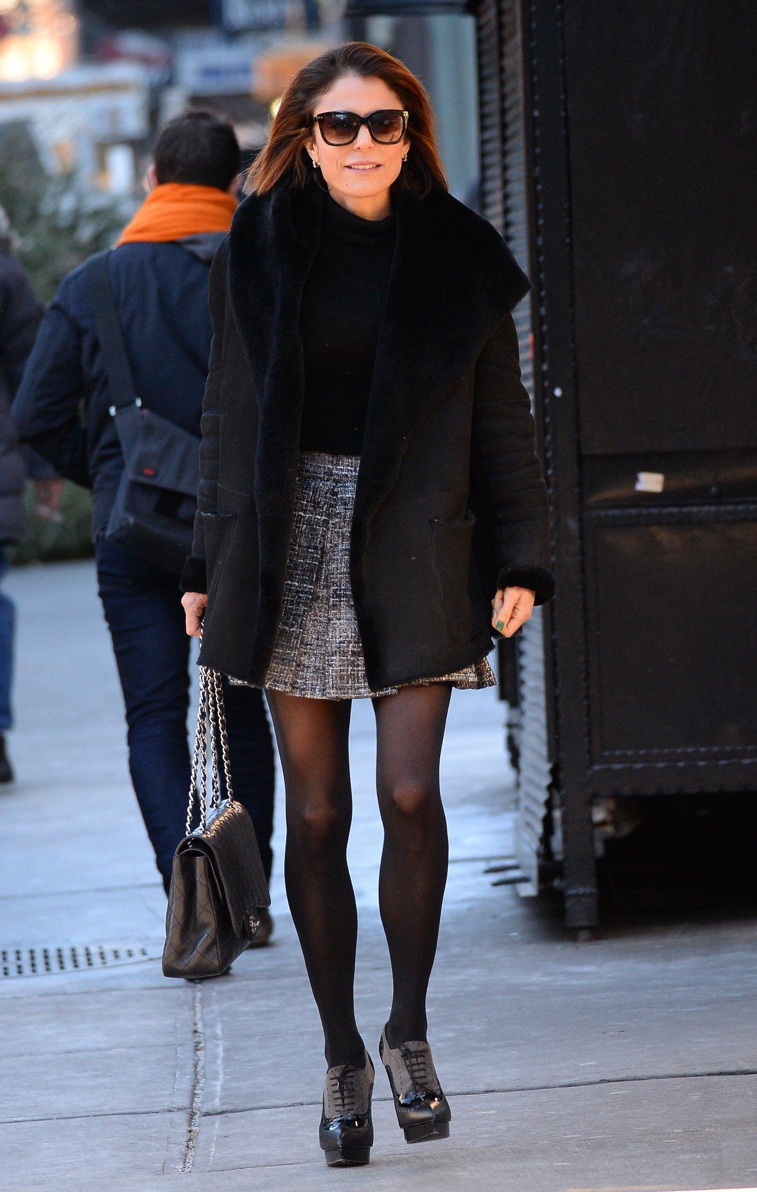 Bethenny Frankel is seen walking in Soho on January 6, 2016 in New York City
