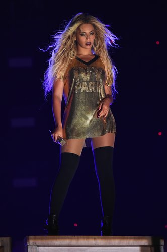 Beyoncé performs on stage during closing night of 'The Formation World Tour' at MetLife Stadium on October 7, 2016 in East Rutherford, New Jersey