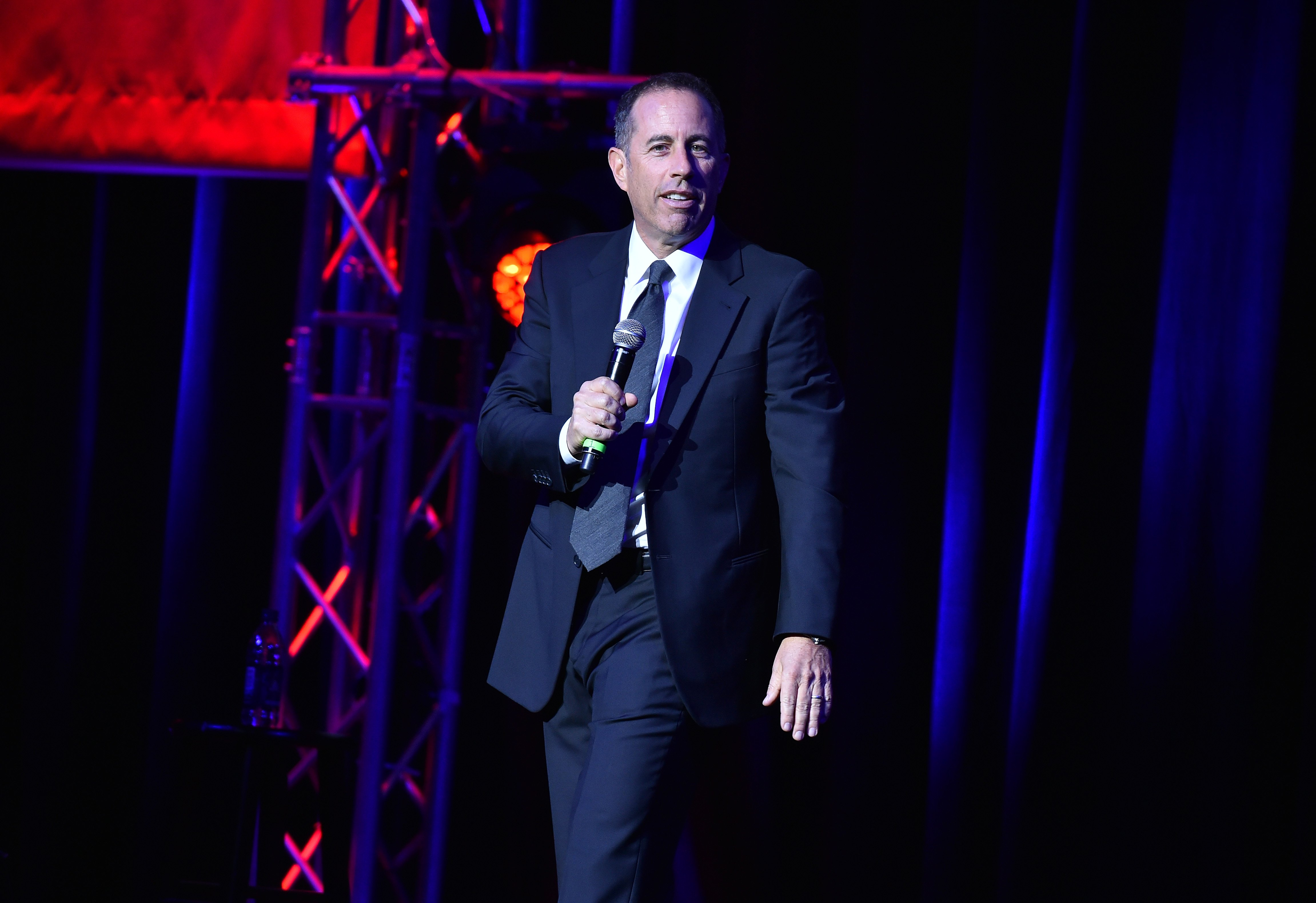 Jerry Seinfeld performs on stage during 10th Annual Stand Up For Heroes at The Theater at Madison Square Garden on November 1, 2016 in New York City