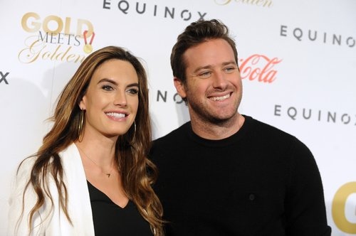 Elizabeth Chambers Hammer and Armie Hammer attend Life is Good at Gold Meets Golden Event at Equinox on January 7, 2017 in Los Angeles