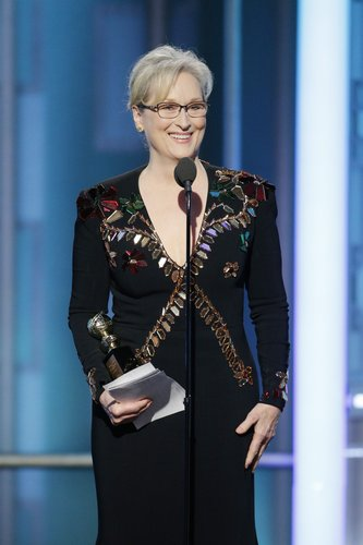 Meryl Streep accepts the Cecil B. DeMille Award during the 74th Annual Golden Globe Awards at The Beverly Hilton Hotel on January 8, 2017 in Beverly Hills