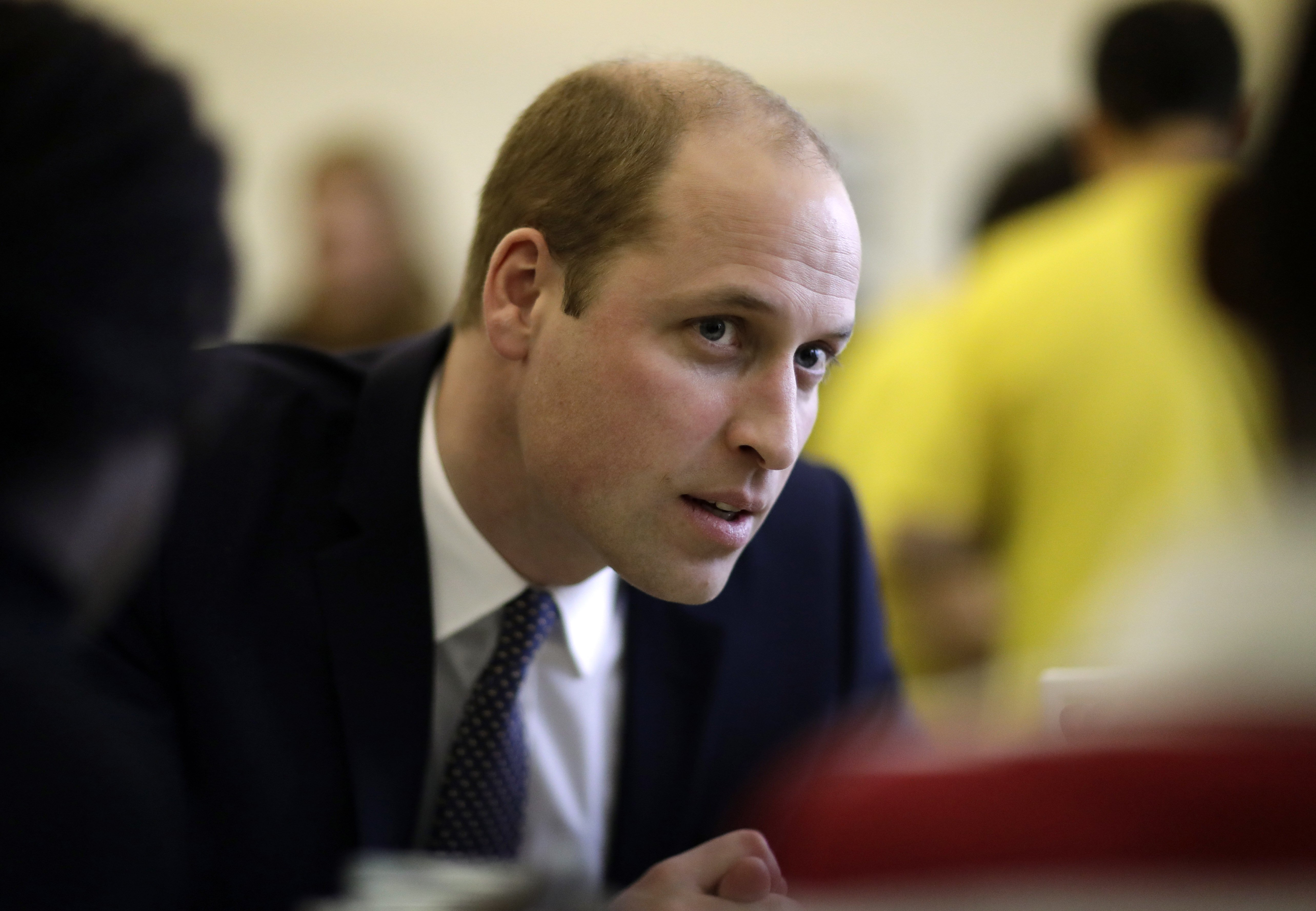 Prince William, Duke of Cambridge speaks to families at the Child Bereavement UK Centre in Stratford on January 11, 2017 in London