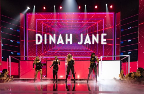 Ally Brooke, Normani Kordei, Lauren Jauregui, and Dinah Jane of music group Fifth Harmony perform onstage during the People's Choice Awards 2017 at Microsoft Theater on January 18, 2017 in Los Angeles