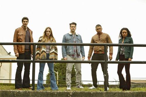 Brandon Routh as Ray Palmer/Atom, Caity Lotz as Sara Lance/White Canary, Nick Zano as Nate Heywood/Steel, Franz Drameh as Jefferson 'Jax' Jackson and Maisie Richardson- Sellers as Amaya Jiwe/Vixen in 'Legends of Tomorrow'