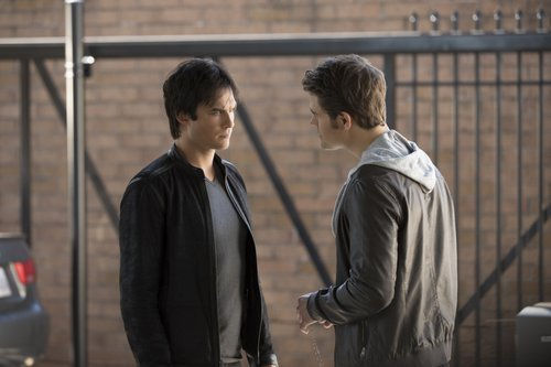Ian Somerhalder as Damon and Paul Wesley as Stefan in 'The Vampire Diaries' Season 8