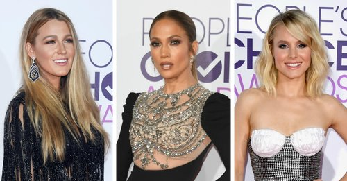 Blake Lively, Jennifer Lopez and Kristen Bell on the 2017 People's Choice Awards red carpet
